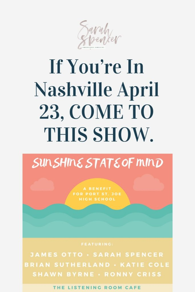 If You're In Nashville April 23, COME TO THIS SHOW | SarahSpencer.com