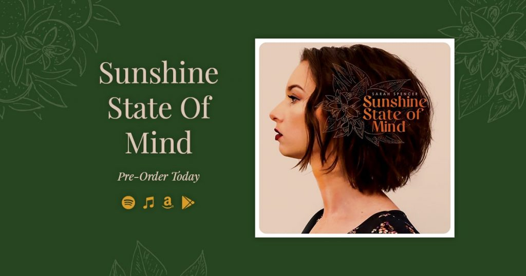 "Pre-Save ""Sunshine State of Mind"" today on Spotify, or pre-order on itunes, or anywhere you like to listen to music, honestly there are SO many options omg you just do you (but just pre-save it!). xo Sarah Spencer"